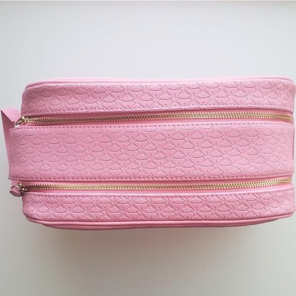 Jeffree Star Handbags - Jeffree Star Double Zip Pink Makeup Bag